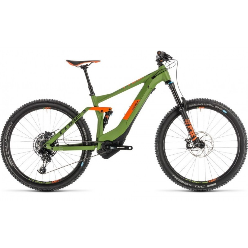 CUBE STEREO HYBRID 140 RACE 500 GREEN'N ORANGE 2019